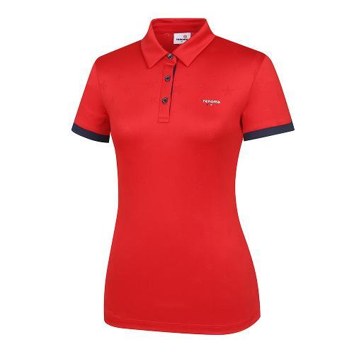 [레노마골프]여성 배색 별자가드 카라 반팔 티셔츠 RWTPI6102-500_G