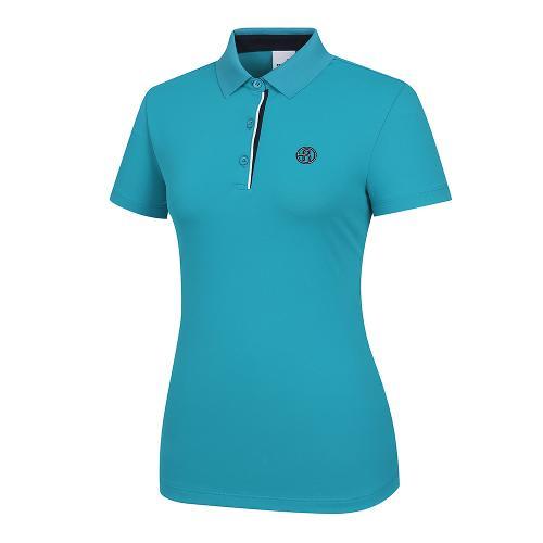 [레노마골프]여성 배색 포인트 카라 반팔 티셔츠 RWTPI6101-920_G