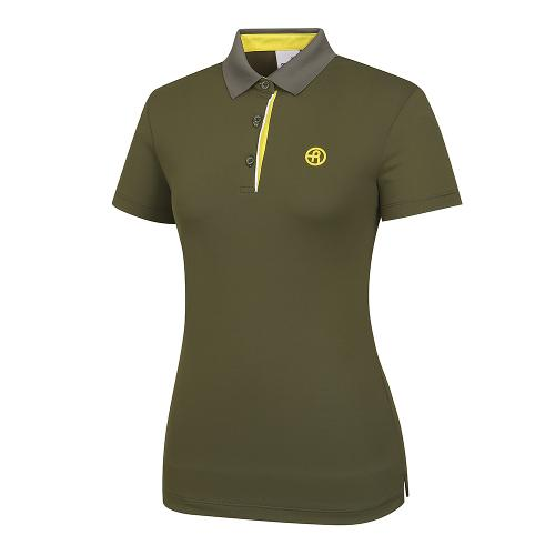 [레노마골프]여성 배색 포인트 카라 반팔 티셔츠 RWTPI6101-816_G