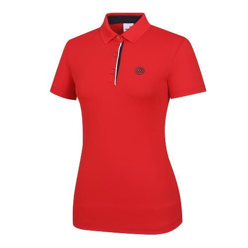 [레노마골프]여성 배색 포인트 카라 반팔 티셔츠 RWTPI6101-500_G