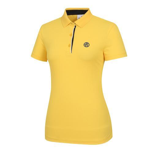 [레노마골프]여성 배색 포인트 카라 반팔 티셔츠 RWTPI6101-203_G