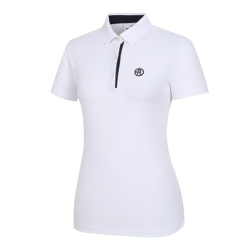 [레노마골프]여성 배색 포인트 카라 반팔 티셔츠 RWTPI6101-100_G