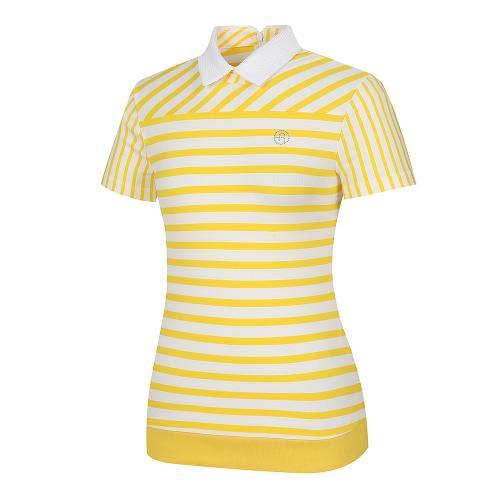 [레노마골프]여성 스트라이프 패턴 카라 반팔 티셔츠 RWTYI6118-203_G