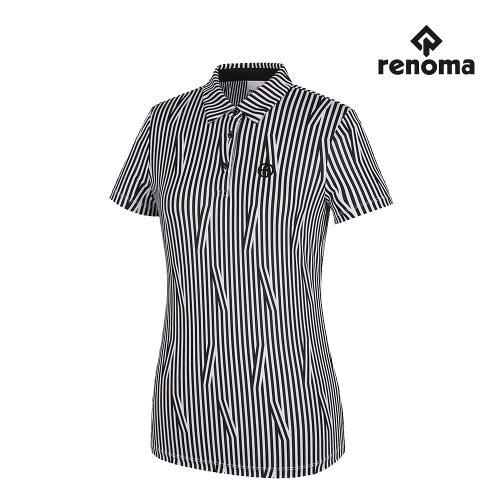 [레노마골프]여성 스트라이프 패턴 카라 반팔 티셔츠 RWTYH6141-199_G