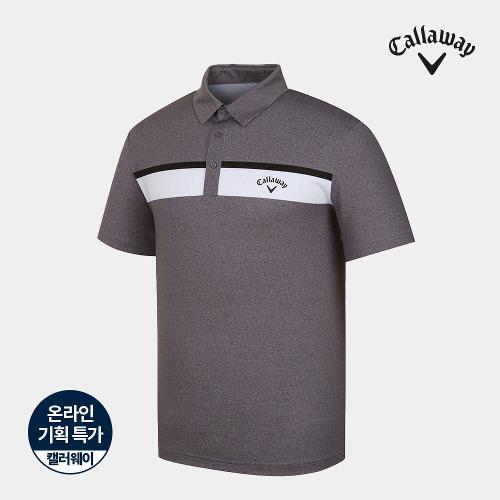 [캘러웨이]기획 남성 컬러 배색 카라 반팔 티셔츠 CMTYJ2672-193_G