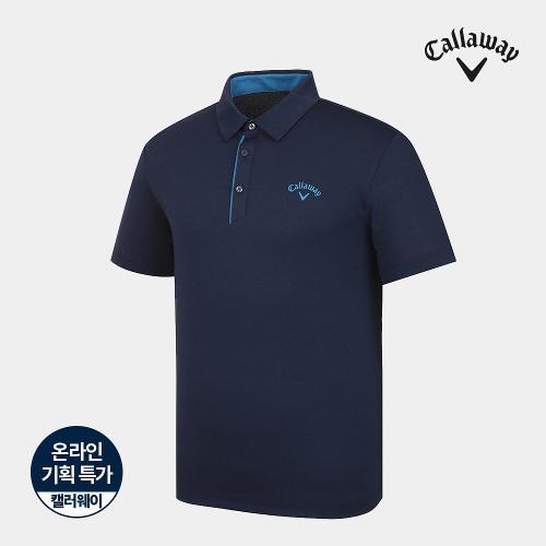 [캘러웨이]기획 남성 심플 배색 카라 반팔 티셔츠 CMTYJ2670-925_G