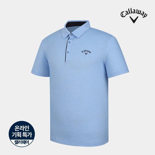 [캘러웨이]기획 남성 심플 배색 카라 반팔 티셔츠 CMTYJ2670-940_G