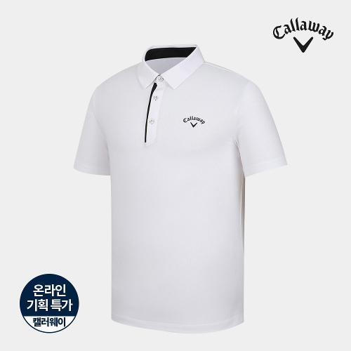 [캘러웨이]기획 남성 심플 배색 카라 반팔 티셔츠 CMTYJ2670-100_G