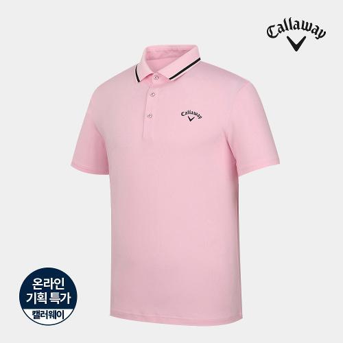 [캘러웨이]기획 남성 솔리드 카라 배색 반팔 티셔츠 CMTPJ2669-403_G