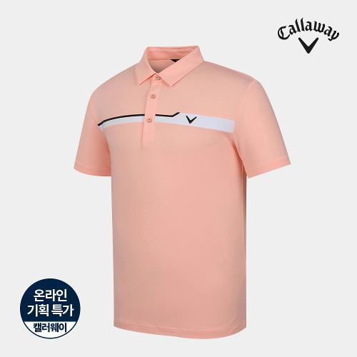 [캘러웨이]기획 남성 가슴 배색 카라 반팔 티셔츠 CMTYJ2662-304_G