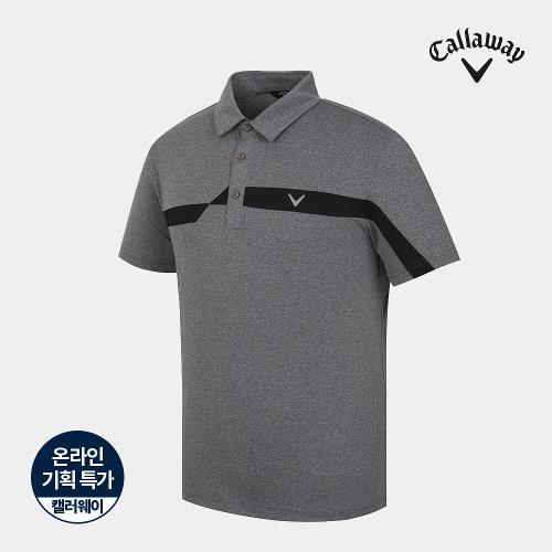 [캘러웨이]기획 남성 매쉬 배색 카라 반팔 티셔츠 CMTYJ2755-193_G