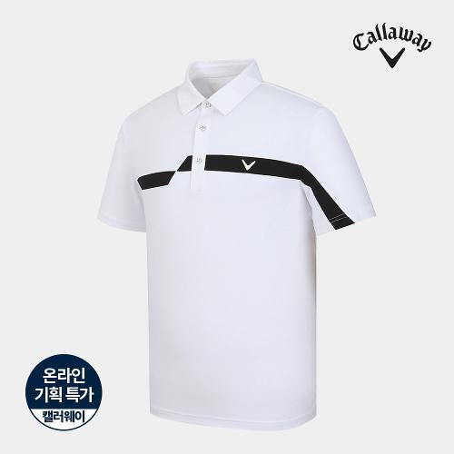 [캘러웨이]기획 남성 매쉬 배색 카라 반팔 티셔츠 CMTYJ2755-100_G