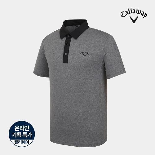 [캘러웨이]기획 남성 원배색 카라 반팔 티셔츠 CMTYJ2752-193_G