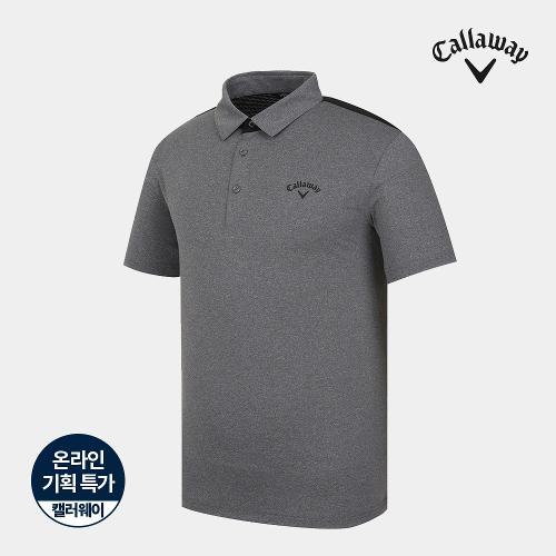 [캘러웨이]기획 남성 뒷판 매쉬 배색 카라 반팔 티셔츠 CMTYJ2751-193_G