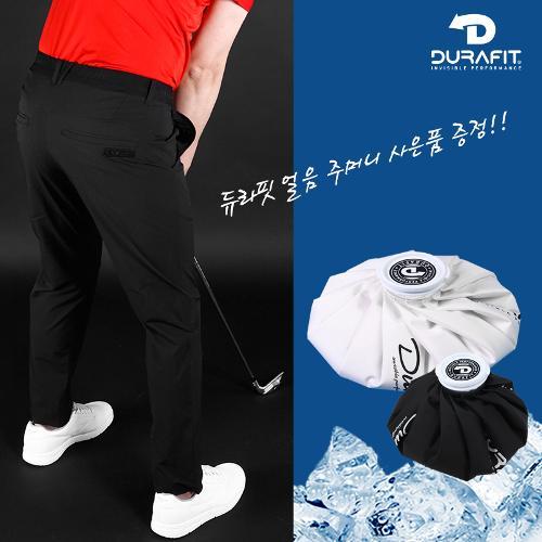 (얼음주머니 증정)듀라핏 인비저블 퍼펙트 허리밴딩 남성 골프바지 D21S2PT07_BK