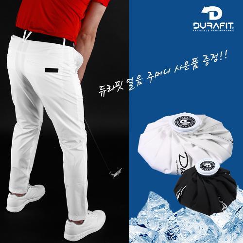 (얼음주머니 증정)듀라핏 인비저블 퍼펙트 허리밴딩 남성 골프바지 D21S2PT07_WH