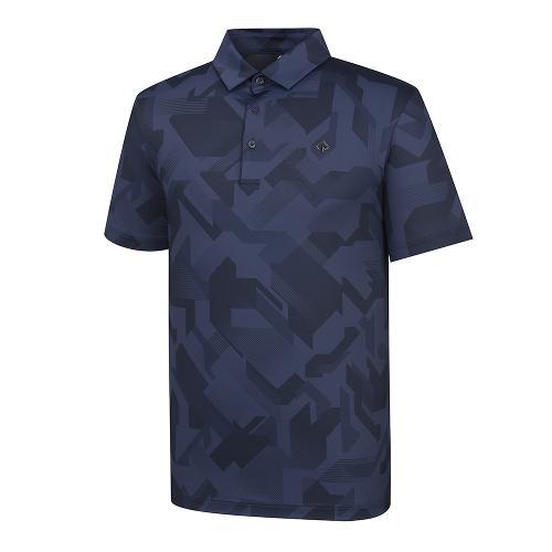 [레노마골프]21SS 남성 패턴 카라 반팔 티셔츠 RMTYK2174-925_G