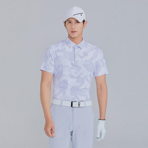 [레노마골프]21SS 남성 패턴 카라 반팔 티셔츠 RMTYK2174-101_G