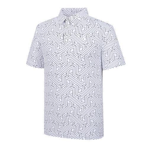 [레노마골프]21SS 남성 전판 패턴 카라 반팔 티셔츠 RMTYK2172-101_G