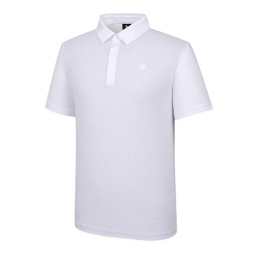 [레노마골프]21SS 남성 메쉬 자가드 카라 반팔 티셔츠 RMTYK2168-101_G