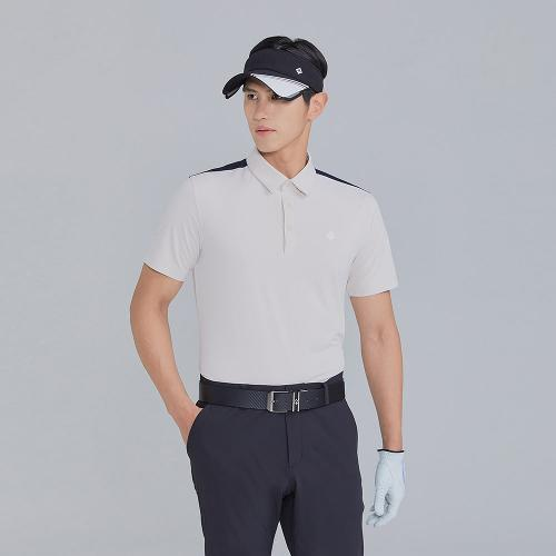 [레노마골프]21SS 남성 어깨 배색 카라 반팔 티셔츠 RMTYK2158-508_G