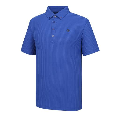 [레노마골프]21SS 남성 세로 골지 스트라이프 카라 반팔 티셔츠 RMTYK2156-906_G