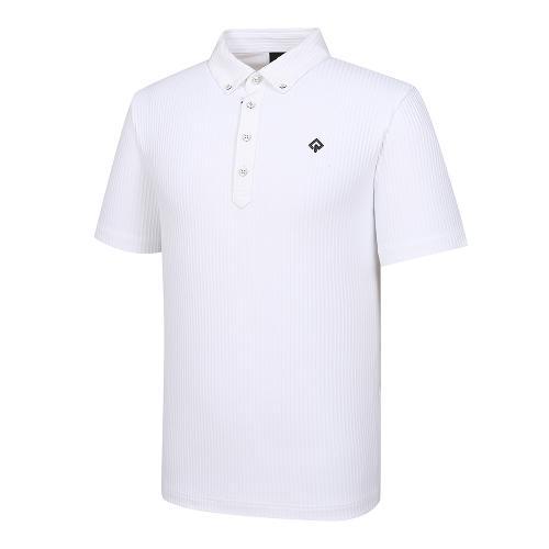 [레노마골프]21SS 남성 세로 골지 스트라이프 카라 반팔 티셔츠 RMTYK2156-101_G