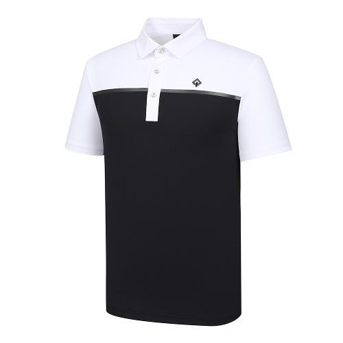 [레노마골프]21SS 남성 컬러 블록 카라 반팔 티셔츠 RMTYK2112-101_G