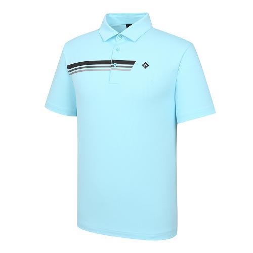 [레노마골프]21SS 남성 가슴 프린트 포인트 카라 반팔 티셔츠 RMTYK2110-901_G