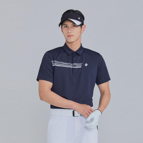 [레노마골프]21SS 남성 가슴 프린트 포인트 카라 반팔 티셔츠 RMTYK2110-199_G
