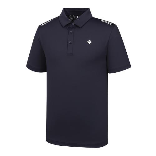 [레노마골프]21SS 남성 펀칭소재MIX 제에리 티셔츠 RMTYK2108-925_G