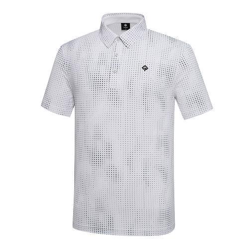[레노마골프]21SS 남성 패턴 카라넥 반팔티셔츠 RMTYK2171-101_G