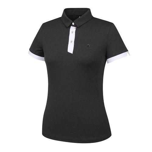 [레노마골프]21SS 여성 배색 포인트 카라 반팔 티셔츠 RWTYK6153-192_G