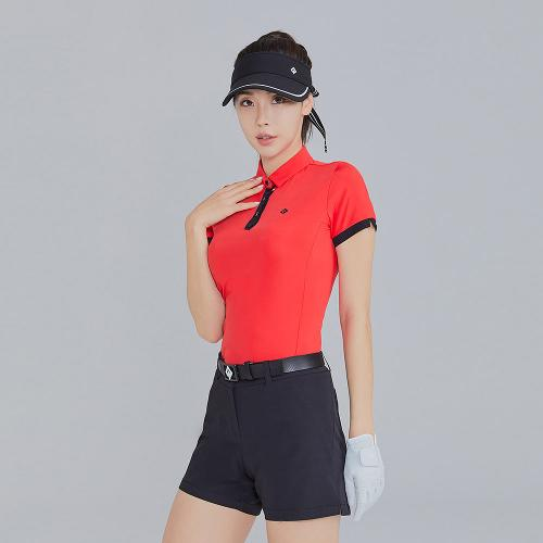 [레노마골프]21SS 여성 배색 포인트 카라 반팔 티셔츠 RWTYK6153-500_G