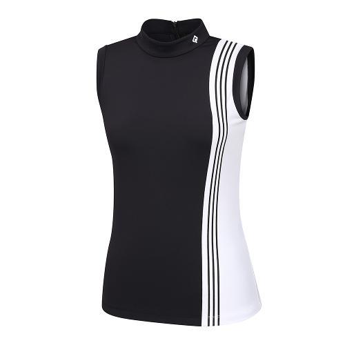 [레노마골프]21SS 여성 배색 하이넥 뒷지퍼 민소매 티셔츠 RWTSK6116-199_G