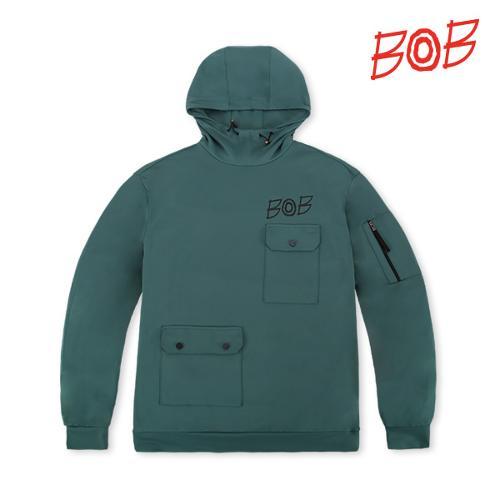 BOB 남성 오버핏 스트릿 패션 후드티셔츠 - GBS1TL010_TG