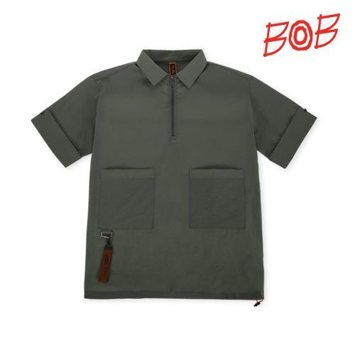 BOB 남성 포켓포인트 반팔 카라티셔츠 - GBM1TS080_KN