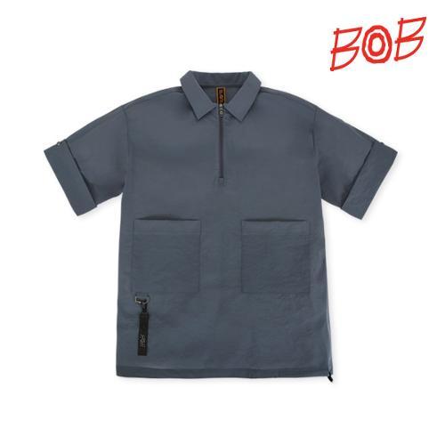 BOB 남성 포켓포인트 반팔 카라티셔츠 - GBM1TS080_DG