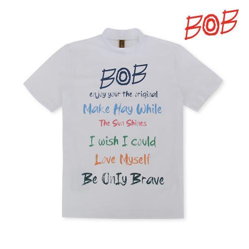 BOB 남성 반터틀넥 반팔 골프티셔츠 - GBM1TS020_WH