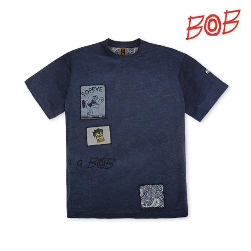 BOB 남성 뽀빠이패치 반팔 골프티셔츠 - GBM1TR030_NA