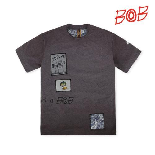 BOB 남성 뽀빠이패치 반팔 골프티셔츠 - GBM1TR030_MG