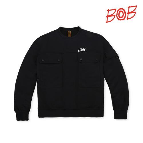 BOB 여성 포켓포인트 라운드 골프 티셔츠 - GBS2TR810_BK