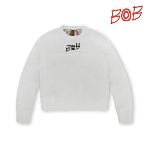 BOB 여성 숏맨투맨 긴팔 골프 티셔츠 - GBS2TR510_WH