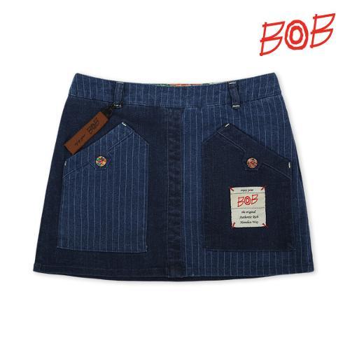 BOB 여성 스트레치 데님 골프 큐롯스커트 - GBS2PQ520_NA