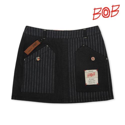 BOB 여성 스트레치 데님 골프 큐롯스커트 - GBS2PQ520_GR