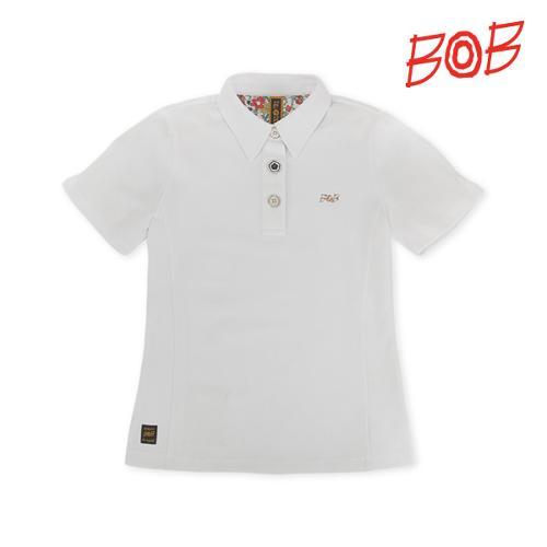 BOB 여성 퍼프소매 반팔 골프 카라티셔츠 - GBM2TS520_WH