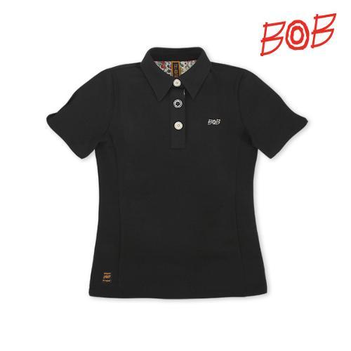 BOB 여성 퍼프소매 반팔 골프 카라티셔츠 - GBM2TS520_BK