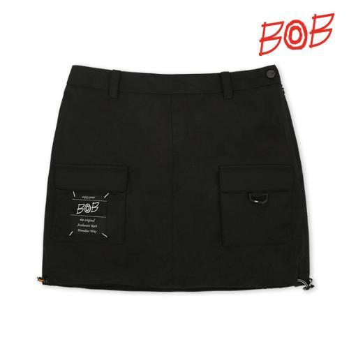 BOB 여성 아웃포켓 포인트 큐롯 스커트 - GBM2PQ520_BK