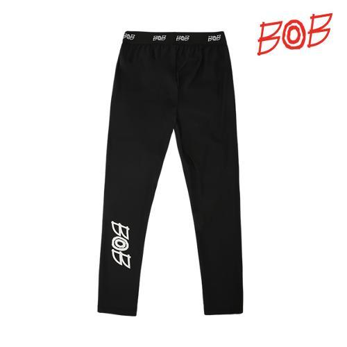 BOB 여성 로고 포인트 기능성 골프레깅스 - GBD2PR510_BK