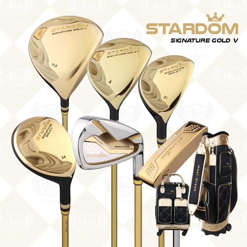 [2021년신상품]카타나 스타덤 SIGNATURE GOLD V 여성용 풀세트(12PCS)+핸드케리어백세트